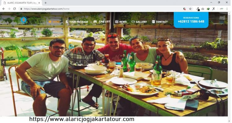 Alaric Jogjakarta Tour, Jasa Pembuatan Website Jogja, Jasa Buat Website Jogja