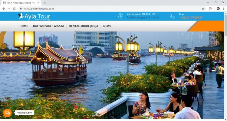 Ayla Tour, Jasa Pembuatan Website Jogja, Jasa Buat Website Jogja