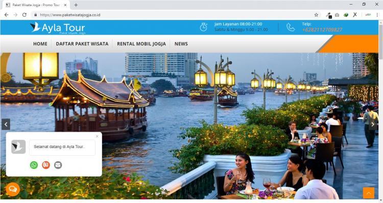 Ayla Tour Yogyakarta, Jasa Pembuatan Website Jogja, Jasa Buat Website Jogja