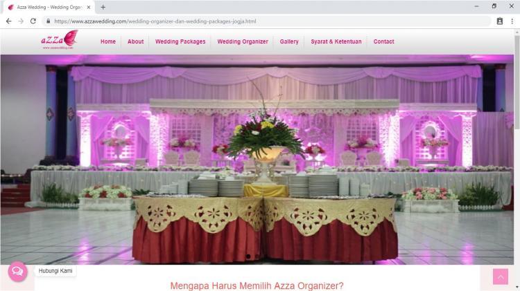 Azza Wedding, Jasa Pembuatan Website Jogja, Jasa Buat Website Jogja