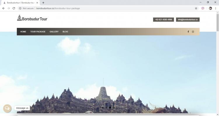 Borobudur Tour, Jasa Pembuatan Website Jogja, Jasa Buat Website Jogja