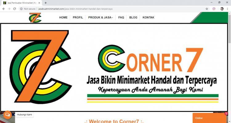 Corner 7, Jasa Pembuatan Website Jogja, Jasa Buat Website Jogja