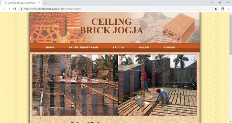 Dak Keraton Jogja Ceiling Brick, Jasa Pembuatan Website Jogja, Jasa Buat Website Jogja