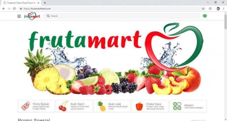 FrutaMart Fresh, Jasa Pembuatan Website Jogja, Jasa Buat Website Jogja