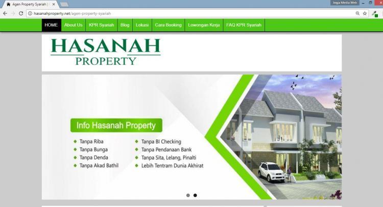 Hasanah Property, Jasa Pembuatan Website Jogja, Jasa Buat Website Jogja