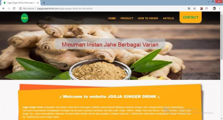 Jogja Ginger Drink, Jasa Pembuatan Website Jogja, Jasa Buat Website Jogja