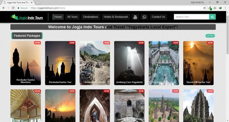 Jogja Indo Tours, Jasa Pembuatan Website Jogja, Jasa Buat Website Jogja