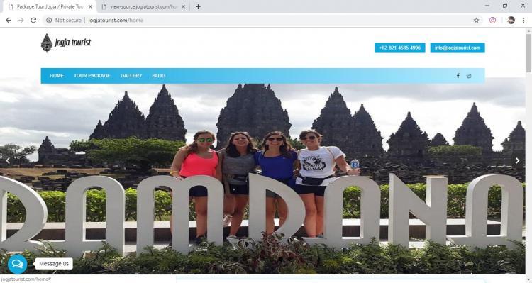 Jogja Tourist, Jasa Pembuatan Website Jogja, Jasa Buat Website Jogja