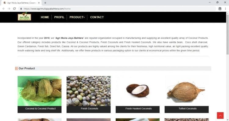 Muji Mulyono Coconut Supplier, Jasa Pembuatan Website Jogja, Jasa Buat Website Jogja