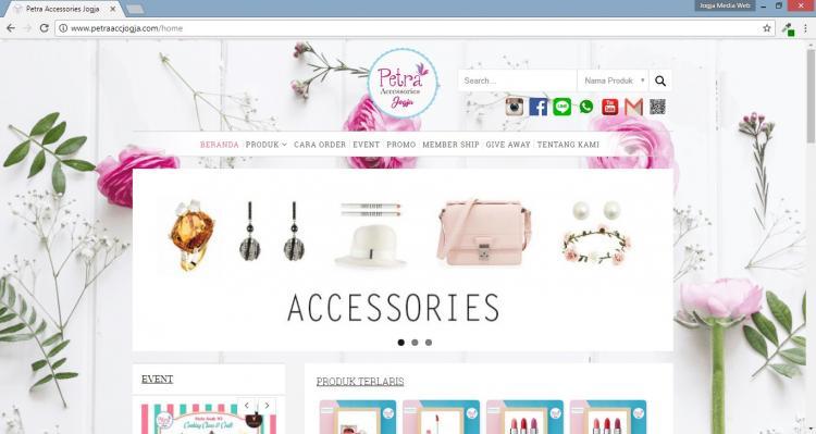 Petra Accessories Jogja, Jasa Pembuatan Website Jogja, Jasa Buat Website Jogja