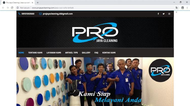 Pro Jaya Cleaning, Jasa Pembuatan Website Jogja, Jasa Buat Website Jogja