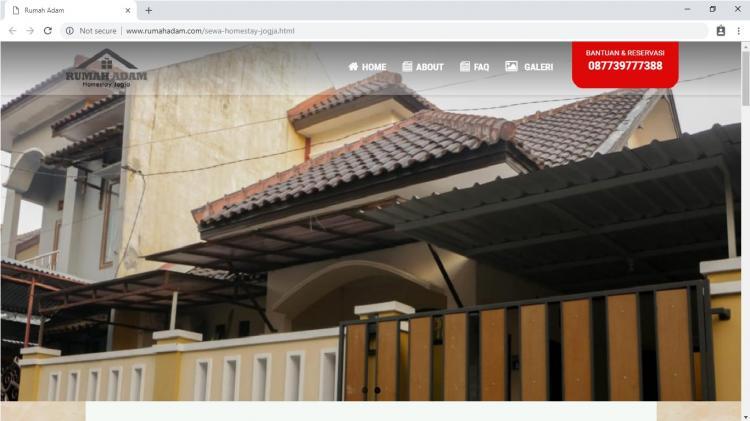 Rumah Adam Homestay Jogja, Jasa Pembuatan Website Jogja, Jasa Buat Website Jogja
