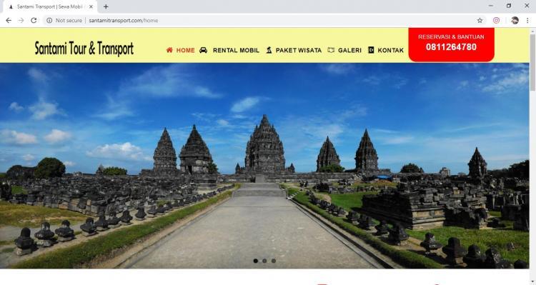 Santami Tour & Transport, Jasa Pembuatan Website Jogja, Jasa Buat Website Jogja