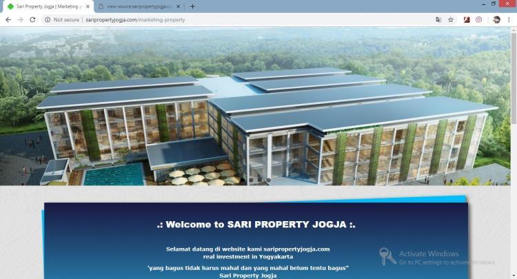 Sari Property Jogja, Jasa Pembuatan Website Jogja, Jasa Buat Website Jogja