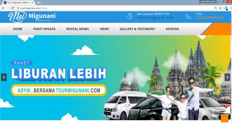 Tour Migunani, Jasa Pembuatan Website Jogja, Jasa Buat Website Jogja