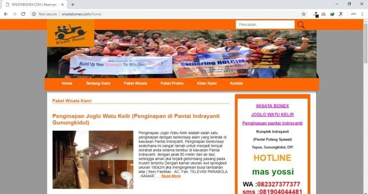 Wisata Bonex, Jasa Pembuatan Website Jogja, Jasa Buat Website Jogja