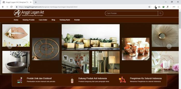 Anggit Logam Art, Jasa Pembuatan Website Jogja, Jasa Buat Website Jogja