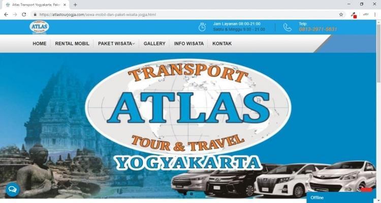 Atlas Transport Yogyakarta, Jasa Pembuatan Website Jogja, Jasa Buat Website Jogja