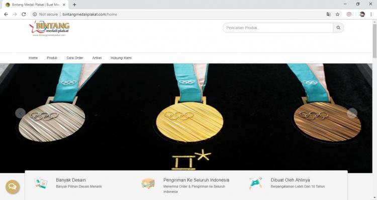 Bintang Medali Plakat, Jasa Pembuatan Website Jogja, Jasa Buat Website Jogja