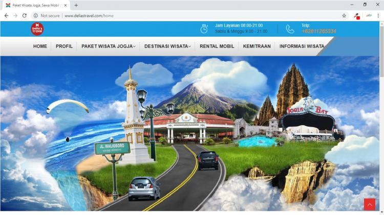 Delias Travel, Jasa Pembuatan Website Jogja, Jasa Buat Website Jogja