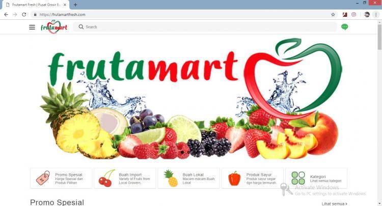 Frutamart, Jasa Pembuatan Website Jogja, Jasa Buat Website Jogja