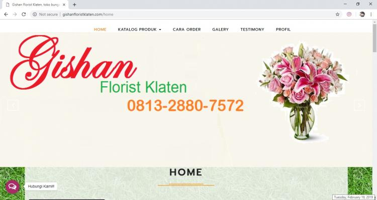 Gishan Florist Klaten, Jasa Pembuatan Website Jogja, Jasa Buat Website Jogja