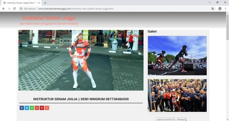 Instruktur Senam Jogja : Google #1, Jasa Pembuatan Website Jogja, Jasa Buat Website Jogja