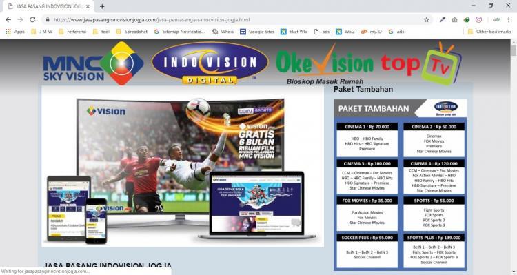 Jasa Pasang MNC Vision Jogja, Jasa Pembuatan Website Jogja, Jasa Buat Website Jogja