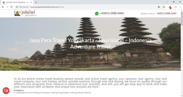 Java Para Travel Indonesia, Jasa Pembuatan Website Jogja, Jasa Buat Website Jogja
