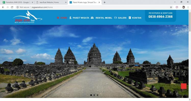 Jogja Asia Tour, Jasa Pembuatan Website Jogja, Jasa Buat Website Jogja