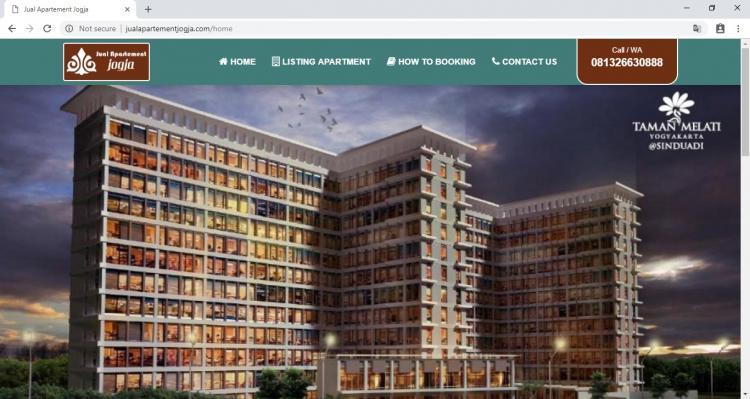 Jual Apartemen Jogja, Jasa Pembuatan Website Jogja, Jasa Buat Website Jogja