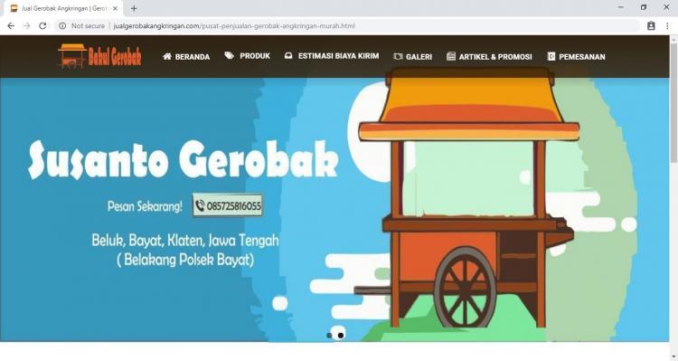 Jual Gerobak Angkringan, Jasa Pembuatan Website Jogja, Jasa Buat Website Jogja