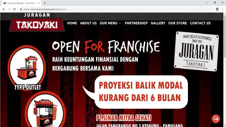Franchise Juragan Takoyaki, Jasa Pembuatan Website Jogja, Jasa Buat Website Jogja