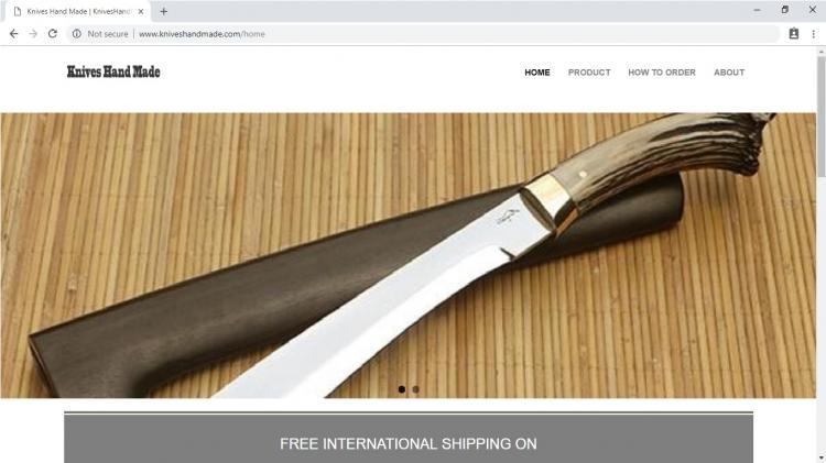 Knives Hand Made, Jasa Pembuatan Website Jogja, Jasa Buat Website Jogja