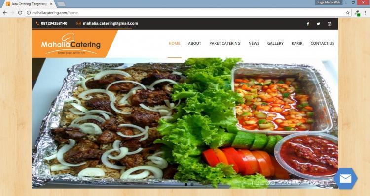 Mahalia Catering , Jasa Pembuatan Website Jogja, Jasa Buat Website Jogja