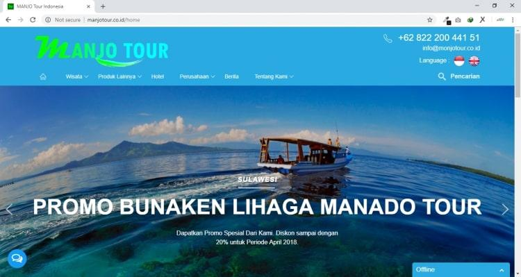 Manjo Tour, Jasa Pembuatan Website Jogja, Jasa Buat Website Jogja