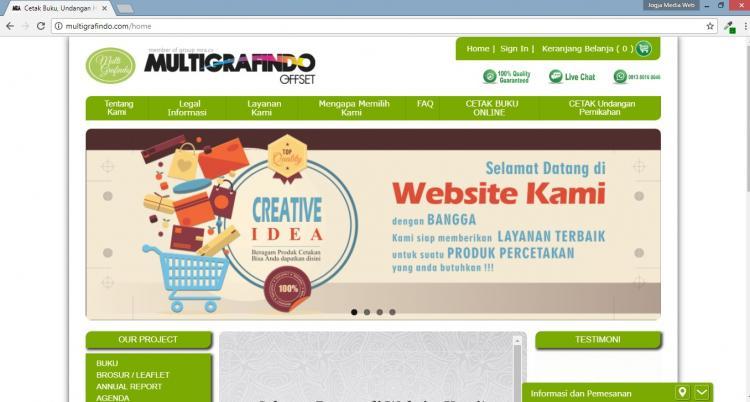 Multigrafindo Offset, Jasa Pembuatan Website Jogja, Jasa Buat Website Jogja
