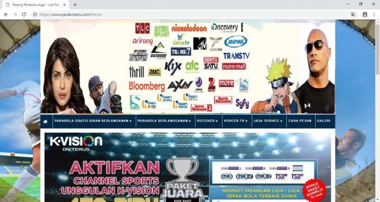 Jasa Pasang Parabola Jogja, Jasa Pembuatan Website Jogja, Jasa Buat Website Jogja