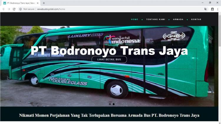 PT. Bodronoyo Trans Jaya, Jasa Pembuatan Website Jogja, Jasa Buat Website Jogja