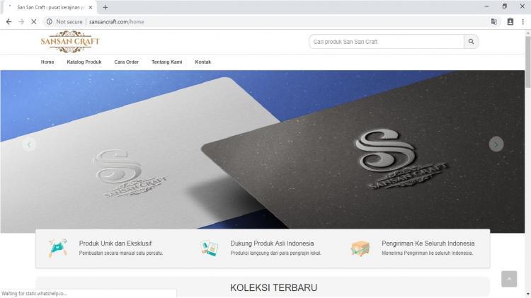 San San Craft, Jasa Pembuatan Website Jogja, Jasa Buat Website Jogja