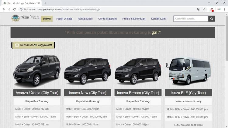 Senopati Transport, Jasa Pembuatan Website Jogja, Jasa Buat Website Jogja