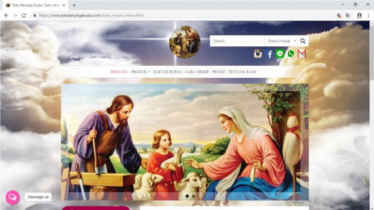 Toko Keluarga Kudus Jogja, Jasa Pembuatan Website Jogja, Jasa Buat Website Jogja
