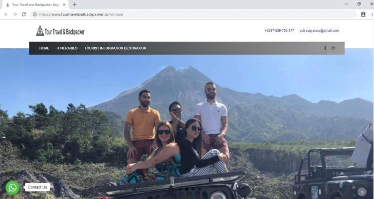 Tour Travel and Backpacker, Jasa Pembuatan Website Jogja, Jasa Buat Website Jogja