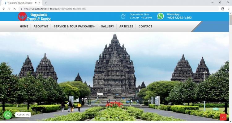 Yogyakarta Travel Tour, Jasa Pembuatan Website Jogja, Jasa Buat Website Jogja